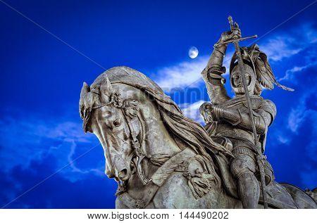 Turin (Torino) monument to Emanuele Filiberto Piazza San Carlo