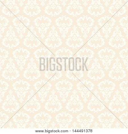Seamless damask pattern. Ornamental background with pattern. Vector design