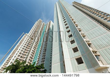 Residential building from low angle