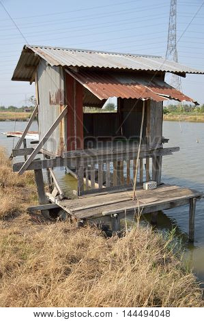close up Zinc Cottage in country Chachoengsao Thailand