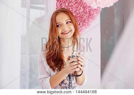 laughing young woman. The concept of lifestyle