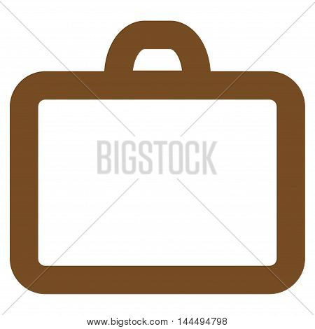 Case vector icon. Style is contour flat icon symbol, brown color, white background.