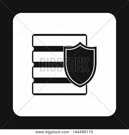 Data security icon in simple style isolated on white background. Protection symbol