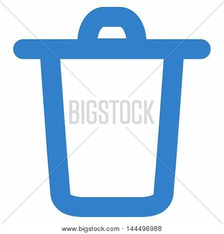 Bucket vector icon. Style is linear flat icon symbol, cobalt color, white background.