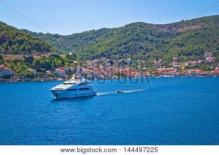 Island of Vis yachting destination view Dalmatia Croatia