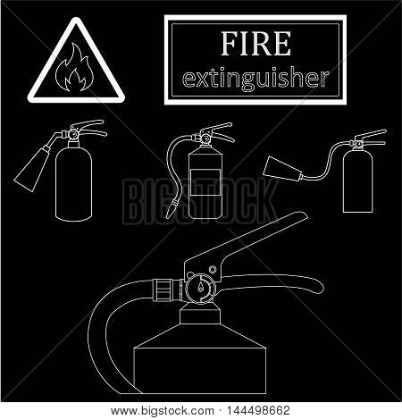 Drawing Fire Extinguishers. Only A Stroke