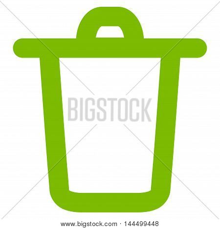 Bucket vector icon. Style is outline flat icon symbol, eco green color, white background.