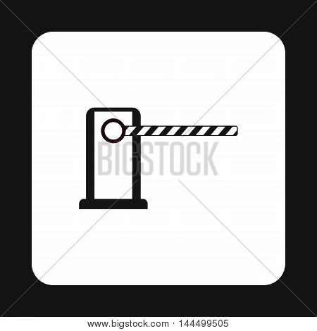 Gate in parking lot icon in simple style isolated on white background. Obstacle symbol
