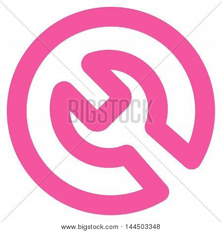 Install vector icon. Style is stroke flat icon symbol, pink color, white background.