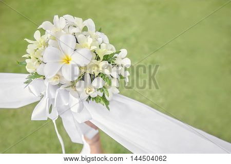 wedding decorations and arrangement bouquet. copy space.
