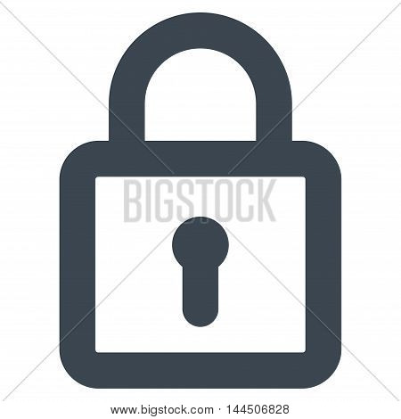 Lock vector icon. Style is stroke flat icon symbol, smooth blue color, white background.