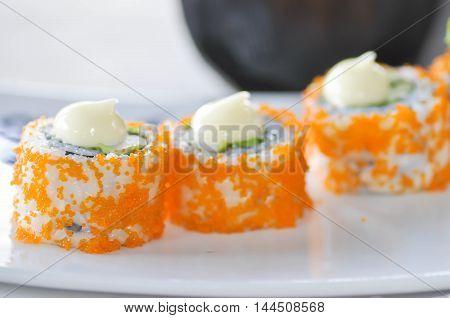 California roll or California Maki dish Japanese food