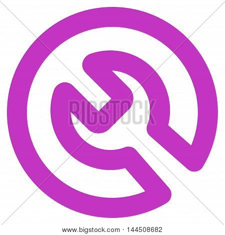 Install vector icon. Style is stroke flat icon symbol, violet color, white background.