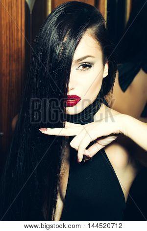 Pretty Girl With Long Black Hair