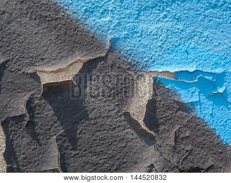 Closeup of Flaky paint 2 on cement wall