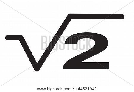 square root icon, Square, root, equation icon vector image. Can also be used for education and science