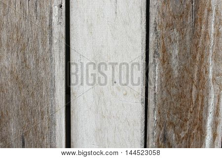 wooden texture background shows Old cracks and fractures radiating from the center that have resulted from the natural weathering from being left in the open air.