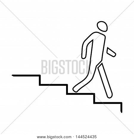 Stairs Down Icon