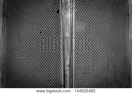 Black Steel Metal Mash Texture Background