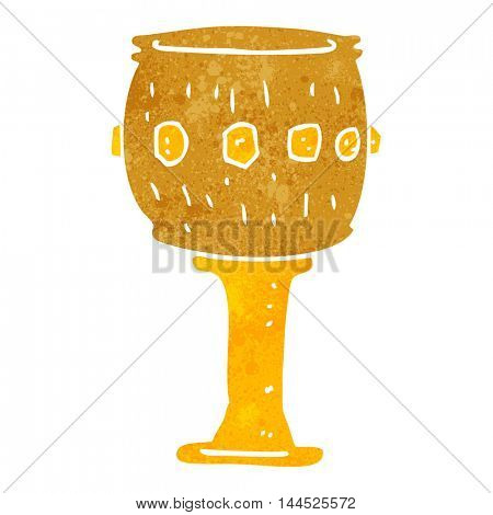 freehand retro cartoon goblet
