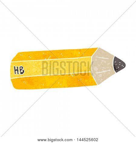 freehand retro cartoon pencil