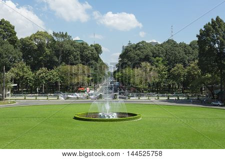 Ho Chi Minh City, Vietnam- November 2015: Independence Palace Was Built In 1962-1966 In Ho Chi Minh