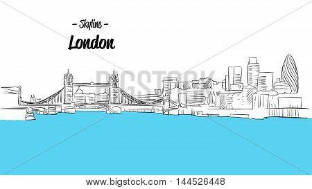 London Skyline Sketch