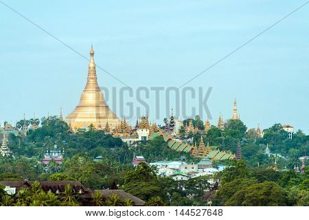 Shwedagon Paya is the most sacred golden buddhist pagoda in Myanmar. It is located on the Singuttara hill in Yangon, Myanmar
