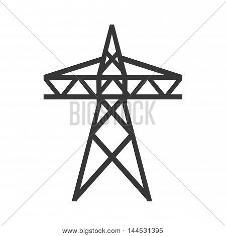 electricity tower power energy industry icon. Flat and isolated design. Vector illustration