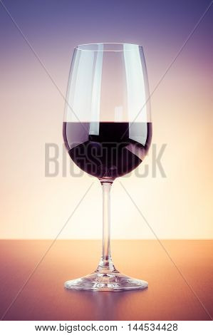 Red Wine Glass Mockup