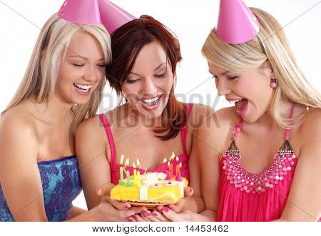 Birthday party isolated on white