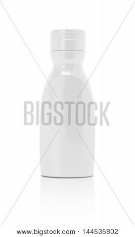 blank packaging ketchup sauce bottle isolated on white background with clipping path