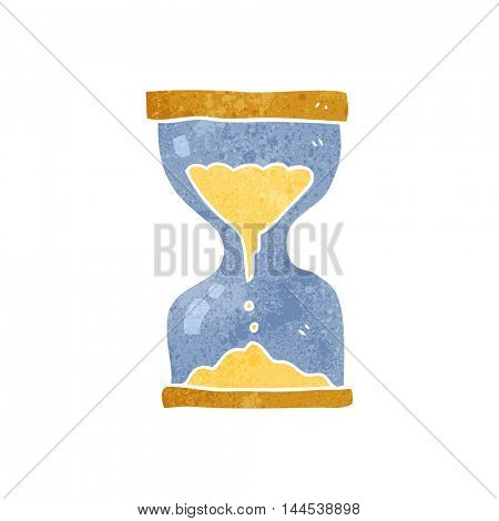freehand retro cartoon sand timer hourglass