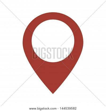 gps button location map icon. Flat and isolated design. Vector illustration