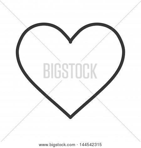 heart shape love passion romantic icon. Flat and isolated design. Vector illustration
