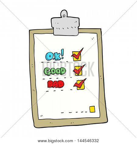 freehand drawn cartoon check list