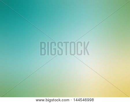 Abstract Gradient Yellow Blue Teal Colored Blurred Background