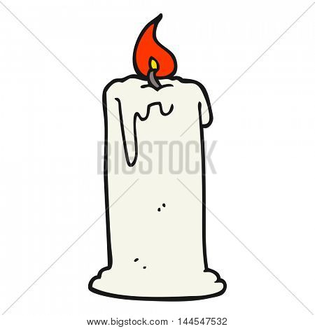 freehand drawn cartoon burning candle