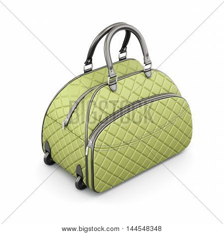 Road Quilted Bag. 3D Rendering.