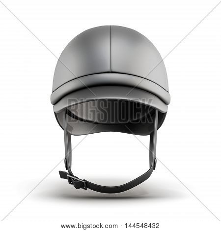 Helmet For Riding . Front View. 3D Rendering