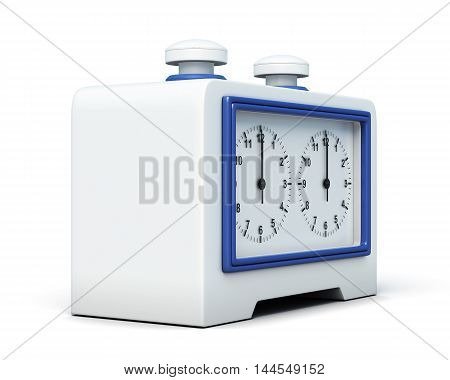 Chess Clock Isolated On White Background. 3D Rendering