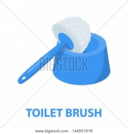 Brush for toilet cartoon icon. Illustration for web and mobile.