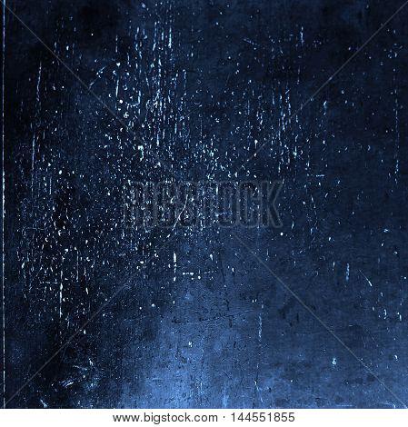 Grunge textured background with scratches. Dark Blue Vintage texture for your design