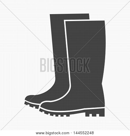 Rubber boots icon of vector illustration for web and mobile design