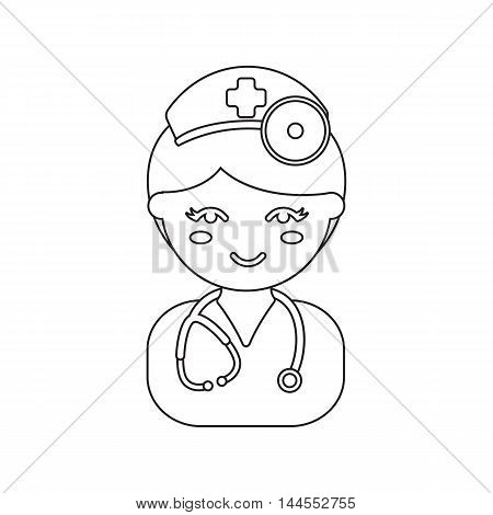 Doctor line icon. Illustration for web and mobile.