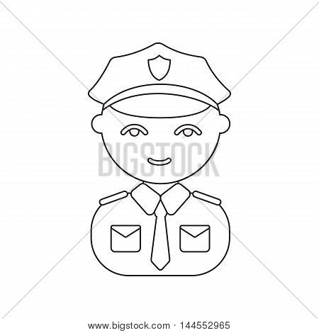 Policeman line icon. Illustration for web and mobile.