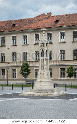Ludwig Losy von Losenau monument in Citadel of Alba Iulia city in Romania