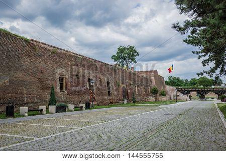 Bastion of Citadel of Alba Iulia city in Romania
