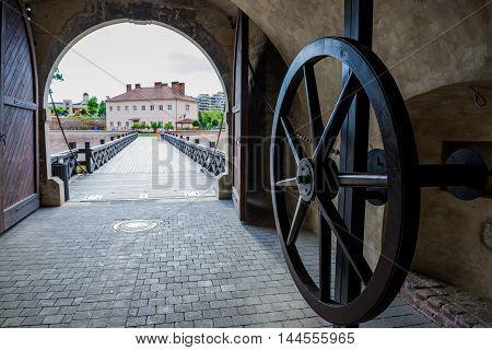 Fourth Gate of the Citadel of Alba Iulia city in Romania