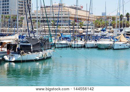 Yachts At The Marina In Israel